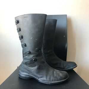 merrell black leather waterproof boot